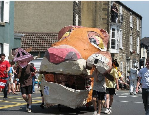 A giant dog/tiger hybrid roams the streets of Knaresborough